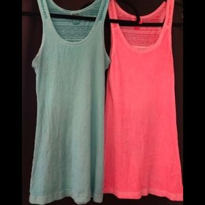2 Medium Mossimo Supply Racer Back Tank tops